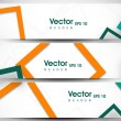 Stock vektor: Website header or banner set with beautiful floral design. EPS 1