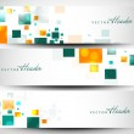 Website header or banner set with beautiful floral design. EPS 1 — 图库矢量图片 #13355345