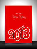 2013 Happy New Year greeting card or gift card. EPS 10. — Stock Vector