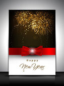 2013 new year celebration gift card or greeting card decorated w — Cтоковый вектор