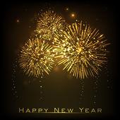 幸せな新年のお祝いの背景。eps 10. — ストックベクタ