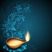 インドのディワリ祭お祝いのグリーティング カード。eps 10 — ストックベクタ