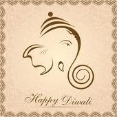 Creative shiny illustration of Hindu Lord Ganesha. EPS 10 — Stock Vector