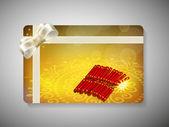 Hediye kartı için deepawali veya diwali festivali hindistan'da. eps 10. — Stok Vektör