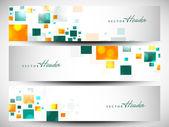 Website-header oder banner-set mit schönen blumenmuster. eps 1 — Stockvektor