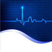 Cardiogram background. EPS 10. — Stock Vector
