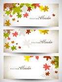 Website header or banner set with beautiful floral design. EPS 1 — Wektor stockowy