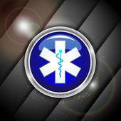 Resumen antecedentes médicos con 3d símbolo médico caduceo. eps — Vector de stock