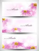 Encabezado de página web o banner con hermoso diseño floral. eps 1 — Vector de stock