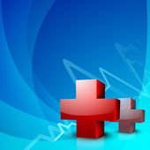Abstract medical background with 3D caduceus medical symbol. EPS — Stock Vector