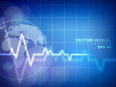 Cardiogram background. EPS 10. — Stock Vector