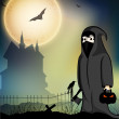 Scary Halloween Background. EPS 10. - Stok Vektör
