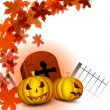 Scary Halloween Background. EPS 10. - 