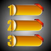 Papel numerado banners. eps 10. — Vetorial Stock