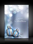 веселые рождественских поздравительных открыток. eps 10. — Cтоковый вектор