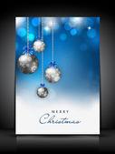 Merry Christmas greeting card. EPS 10. — Stock Vector