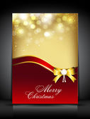 Merry christmas wenskaart. eps 10. — Stockvector