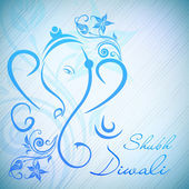 Creative illustration of Hindu Lord Ganesha on colorful backgrou — Stock Vector