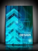 Professional business flyer template or corporate banner design, — Stock Vector
