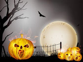 Scary Halloween Background. EPS 10. — Stock Vector