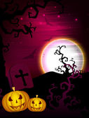 Scary Halloween Background. EPS 10. — ストックベクタ