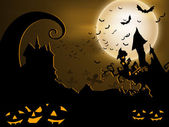 Scary Halloween Background. EPS 10. — Stok Vektör