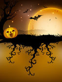 Scary Halloween Background. EPS 10. — Stockvektor