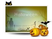 Scary Halloween Background. EPS 10. — Vector de stock