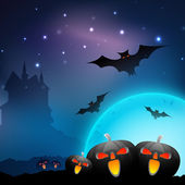 Scary Halloween Background. EPS 10. — Vettoriale Stock