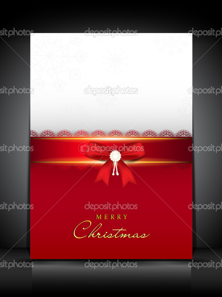 Merry Christmas greeting card. EPS 10.  Stock Vector #13526422