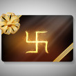 Gift card for Deepawali or Diwali festival in India. EPS 10. — Imagens vectoriais em stock