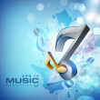 Abstract musical note. EPS 10. — 图库矢量图片