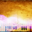 Stylized retro musical background with piano. EPS 10. — Stock vektor