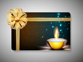 Gift card voor deepawali of diwali festival in india. eps 10. — Stockvector