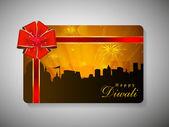 Tarjeta de regalo para deepawali o diwali festival de la india. eps 10. — Vector de stock