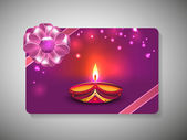 Gift card for Deepawali or Diwali festival in India. EPS 10. — Stock Vector