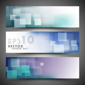 Website header or banner set. EPS 10. — Stock Vector