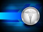 Abstrait médical avec 3d symbole médical du caducée. eps — Vecteur