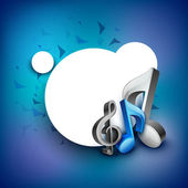 Abstract musical note. EPS 10. — Vector de stock