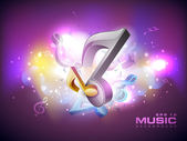 Abstract musical note. EPS 10. — Wektor stockowy