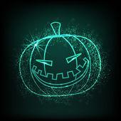 блестящие иллюстрация страшный хэллоуин тыква. eps 10. — Cтоковый вектор