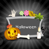 Scary Halloween banner with copy space. EPS 10. — Stock Vector