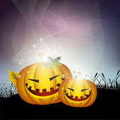 Scary Halloween night background. EPS 10. — Wektor stockowy