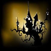 Enge halloween nacht achtergrond. Eps 10. — Stockvector
