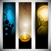 Halloween banners. EPS 10. — Vecteur
