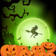 Scary Halloween night background. EPS 10. - Stock Vector