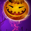 Scary pumpkin in the Halloween night. EPS 10. - Stockvektor
