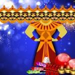 Dussehra festival background. EPS 10. — Stock Vector #13806173