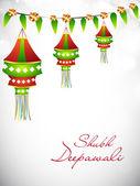 Diwali festivali hindistan'da lamba asılı. eps 10. — Stok Vektör