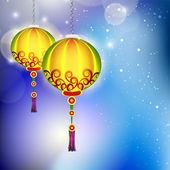 Hanging lamp for Diwali festival in India. EPS 10. — Stock Vector